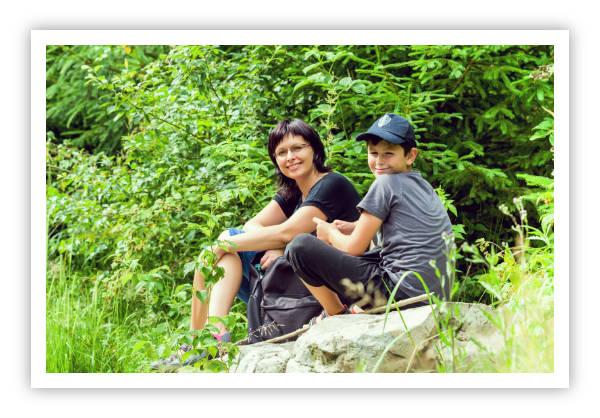 Rodina Novákových z Hodonína na výletě v Lulči